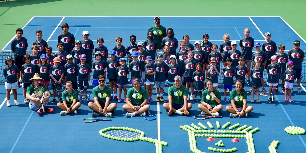 UTA (Universal Tennis Academy) Bitsy Grant Junior Program Large Group on Court