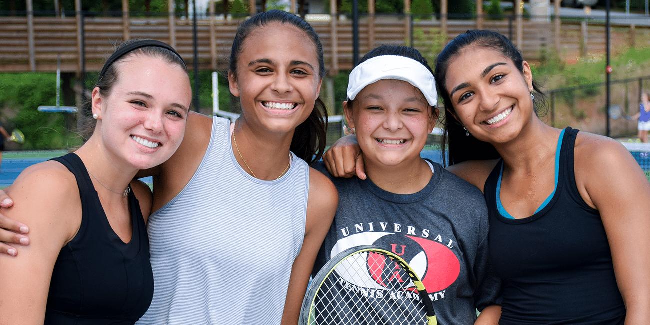 UTA (Universal Tennis Academy) Bitsy Grant Junior Program 4 Girls Smiling