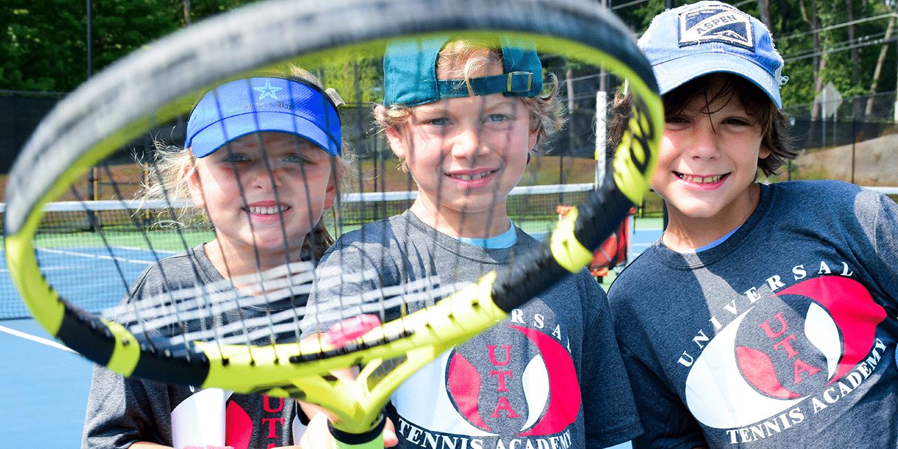 UTA (Universal Tennis Program) Bitsy Grant Junior Programs 3 Boys With Racket