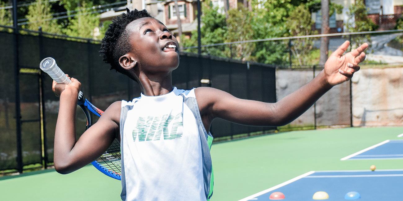 UTA (Universal Tennis Academy) Bitsy Grant Summer Camp 2 Boy in Nike Shirt