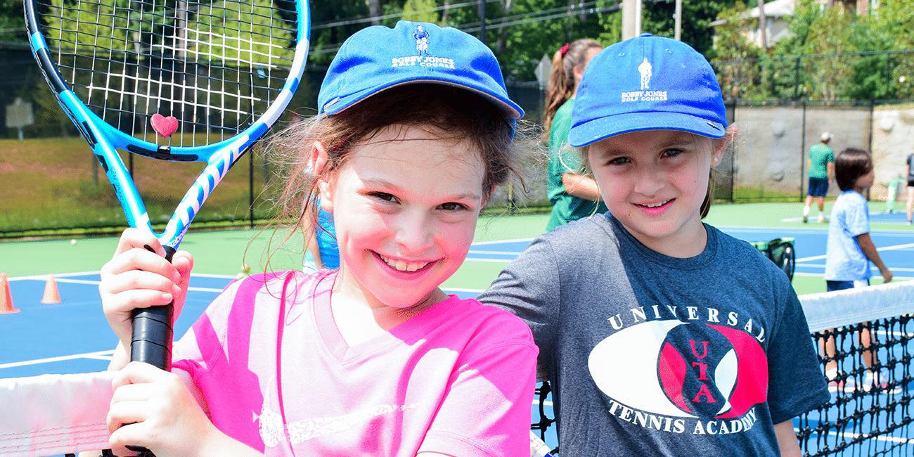 UTA (Universal Tennis Academy) Bitsy Grant Summer Camp Girls Blue Hats