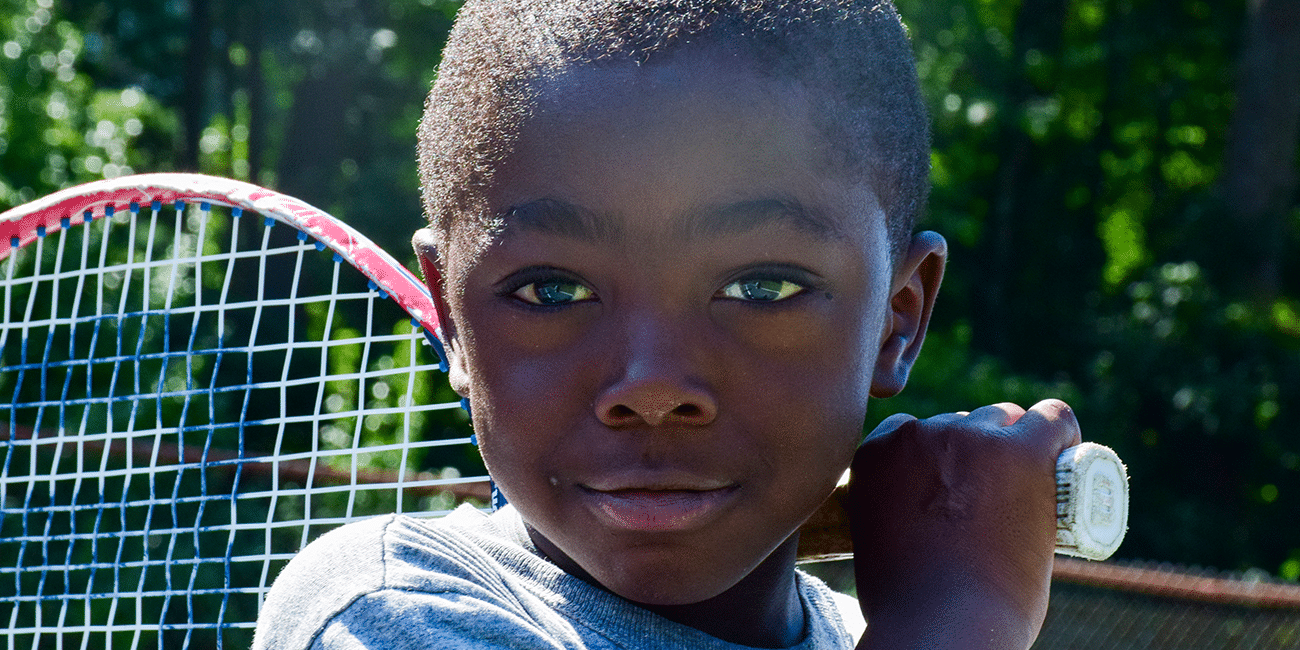 UTA (Universal Tennis Academy) McGhee Summer Camp Young Boy Close Up
