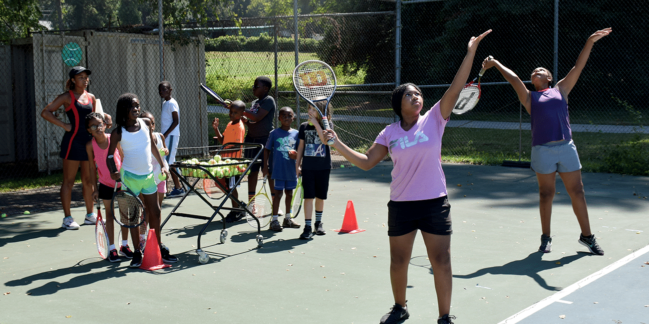 UTA (Universal Tennis Academy) McGhee Summer Camp Girls Serving