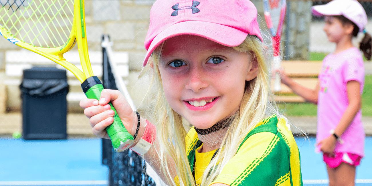 UTA (Universal Tennis Academy) Piedmont Park Summer Camp Pink Hat Girl