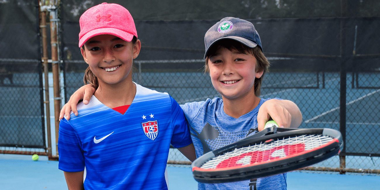 UTA (Universal Tennis Academy) Piedmont Park Summer Camp 2 Blue Shirts