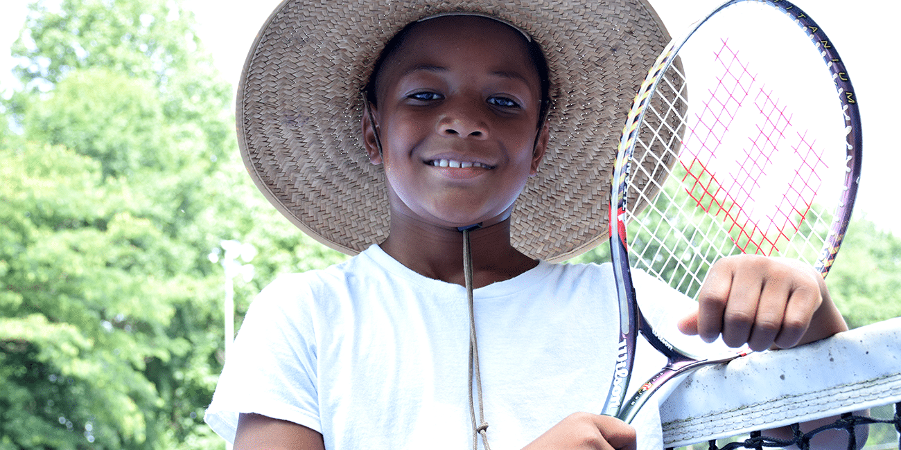 UTA (Universal Tennis Academy) Washington Summer Camp Boy With Hat