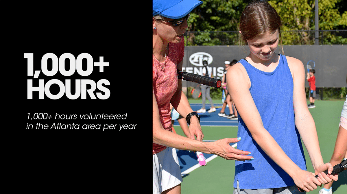 UTA (Universal Tennis Academy) 1000+ Hours Volunteered