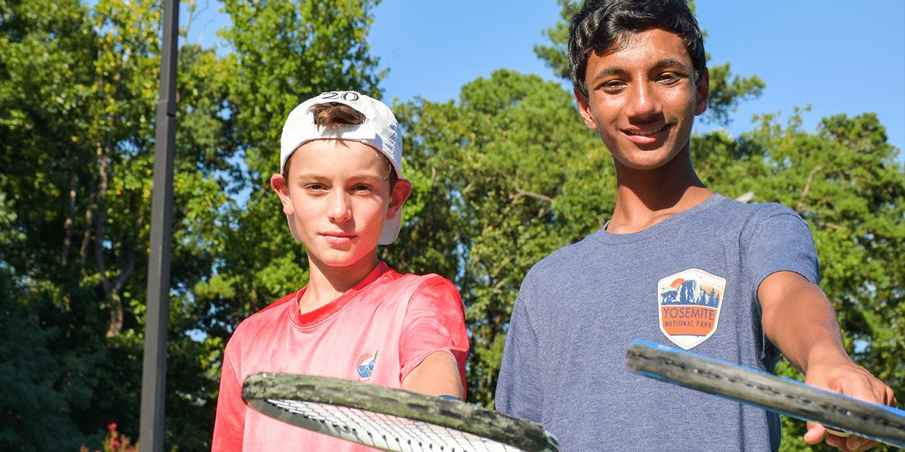 UTA (Universal Tennis Academy) Blackburn Junior 2 Boys Holding Rackets