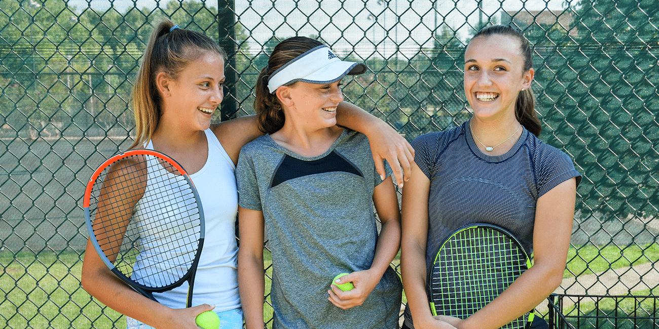 UTA (Universal Tennis Academy) Blackburn Juniors 3 Girls By Fence