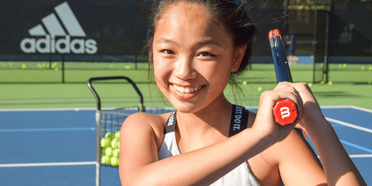 UTA (Universal Tennis Academy) Blackburn Summer Camp Girl W/ Racket