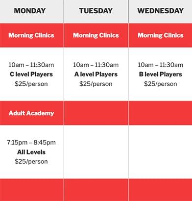 Chastain Park Schedule 2020